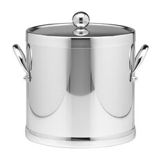 Americano 3 Qt Ice Bucket with Side Handle in Chrome