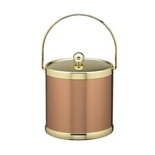 Copper & Brass Ice Bucket with Metal Bale Handle