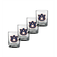 Collegiate 14 oz. Auburn Glass (Set of 4)