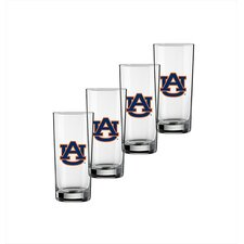 Collegiate 16 Oz Auburn Glass (Set of 4)