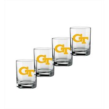 Collegiate Georgia Tech 14 oz. Glass (Set of 4)