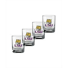 Collegiate LSU 14 Oz Glass (Set of 4)