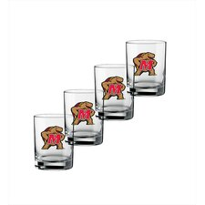 Collegiate Maryland 14 oz. Glass (Set of 4)