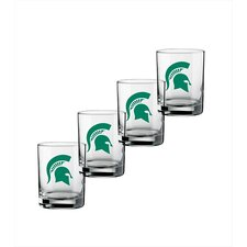 Collegiate 14 oz. Michigan State Glass (Set of 4)
