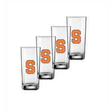 Collegiate Syracuse 16 Oz Glass (Set of 4)
