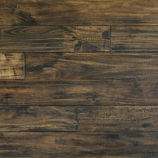 "Handscraped 4-7/8"" Solid Acacia Flooring in Dark Walnut"