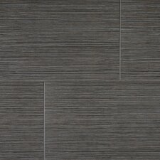 "<strong>Kaska</strong> Element Series 24"" x 12"" Porcelain Tile in Black"