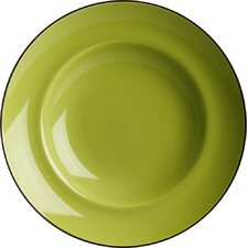Duo 23cm Soup Plate in Mint Green and Chocolate Brown (Set of 4)