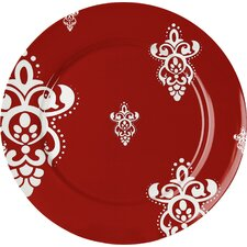 Rocaille 20.6cm Plate in Red (Set of 4)