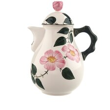 Wildrose 1.5L Premium Porcelain Coffee Pot in Green and Red