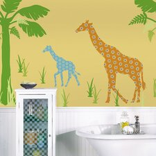 ZooWallogy Riley The Giraffe Wall Decal