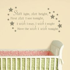 Star Light, Star Bright Baby Wall Wishes Decal