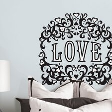 Jonathan Adler Love Flock Wall Art Kit