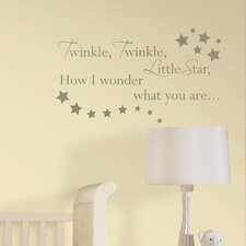 Twinkle, Twinkle Baby Nursery Rhyme Wall Decal