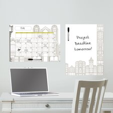 Dry Erase Globe Trotter Message and Calendar Chalkboard Wall Decal