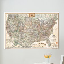 Art Kit National Geographic USA Map Wall Mural