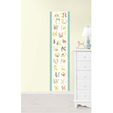 <strong>WallPops!</strong> Wall Art ABC Jungle Growth Chart Wall Decal