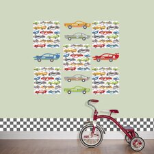 Kids Rally Racers Wall Decal Set