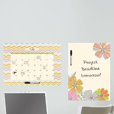 Dry Erase St Tropez Message Board and Calendar Wall Decal