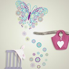 Wall Art Social Butterfly Wall Decal Kit