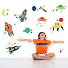 Art Kit Blast Off Wall Decal