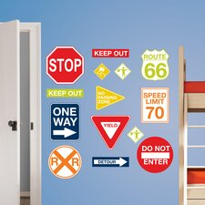 Art Kit Road Signs Wall Decal