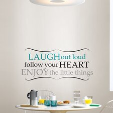 Art Kit Laugh Out Loud Quote Wall Decal