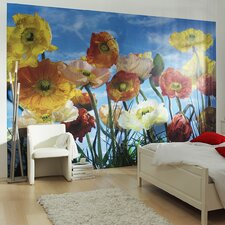 <strong>Brewster Home Fashions</strong> Komar Poppy 8-Panel Wall Mural