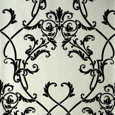 <strong>Brewster Home Fashions</strong> Savoy Nouveau Damask Wallpaper