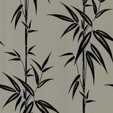 Ink Bamboo Foiled Wallpaper