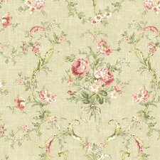 <strong>Brewster Home Fashions</strong> Willow Cottage Floral Bouquet Wallpaper