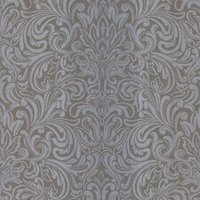 <strong>Brewster Home Fashions</strong> Salon Swirl Damask Wallpaper