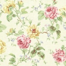Willow Cottage Rose Trail Wallpaper