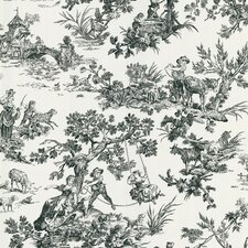 Ink Toile Wallpaper Sample