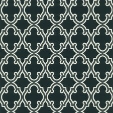 Ink Ironwork Ogee Wallpaper