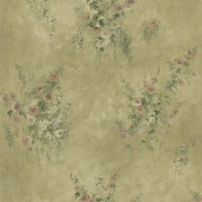 <strong>Brewster Home Fashions</strong> Mirage Signature V Floral Embossed Wallpaper