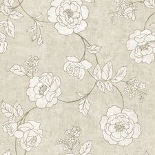 <strong>Brewster Home Fashions</strong> Serene Rose Wallpaper
