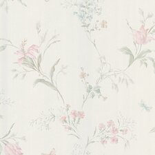 <strong>Brewster Home Fashions</strong> Mirage Signature V Butterfly Floral Trail Wallpaper