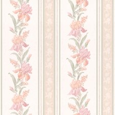 <strong>Brewster Home Fashions</strong> Stripe Floral Wallpaper