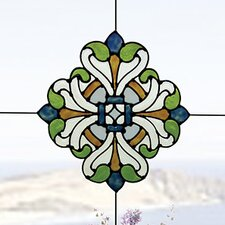 Medici Corners Stained Glass Appliqué Window Sticker