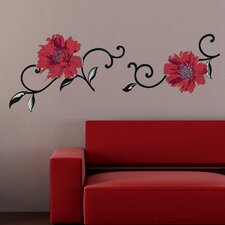 <strong>Brewster Home Fashions</strong> Spirit Flowers Wall Decal