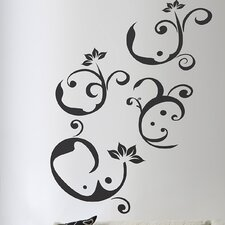 Euro Notes Flock Wall Decal