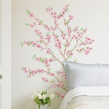 <strong>Brewster Home Fashions</strong> Euro Peach Branch Wall Decal