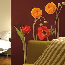 <strong>Brewster Home Fashions</strong> Euro Wild Flowers Wall Decal