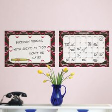 WallPops 2 PieceDry-Erase Loopy Dry Erase Calendar Message Board Wall Decal Set