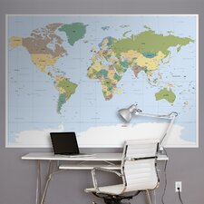 <strong>Brewster Home Fashions</strong> Komar World Map Wall Mural