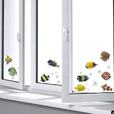 <strong>Brewster Home Fashions</strong> Euro Fishes Window Sticker