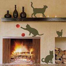 Euro Cats Wall Decal