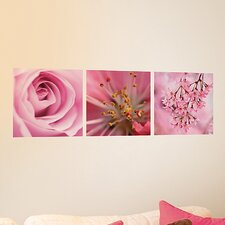 <strong>Brewster Home Fashions</strong> Euro Pink Flowers Panoramic Wall Decal