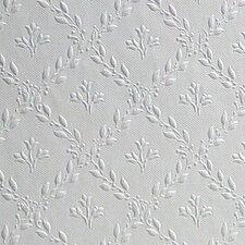 Anaglypta Paintable Hamnett Anaglytpa Original Floral / Harlequin Embossed Wallpaper